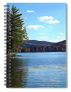 Red House Lake Allegany State Park In Autumn Expressionistic Effect Spiral Notebook