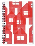 Red Houses- Art By Linda Woods Spiral Notebook