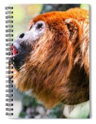 Red Howler Monkey Alpha Male Spiral Notebook