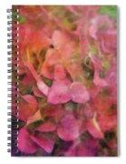 Red Hydrangea 2421 Idp_2 Spiral Notebook