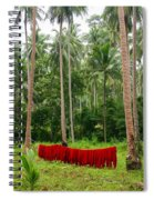Red In The Jungle Spiral Notebook