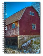 Red Indiana Barn Spiral Notebook