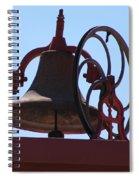 Red Iron Bell Spiral Notebook