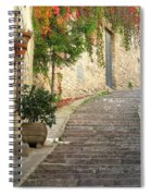 Red Ivy And Steps In Assisi Italy Spiral Notebook