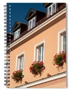 Red Ivy Leaved Geranium Bunches Spiral Notebook