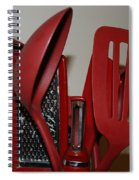 Red Kitchen Utencils Spiral Notebook