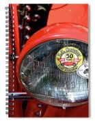 Red La Roadster Spiral Notebook