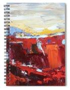 Red Landscape Spiral Notebook
