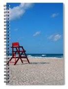 Red Life Guard Chair Spiral Notebook