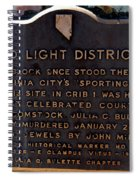 Red Light District Spiral Notebook