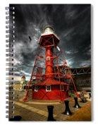 Red Lighthouse Spiral Notebook