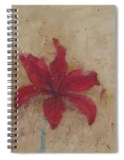 Red Lily Spiral Notebook