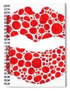 Red Lips Art - Big Kiss - Sharon Cummings Spiral Notebook