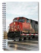 Red Locomotive Spiral Notebook