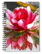 Red Lotus Flower Spiral Notebook