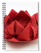 Red Lotus Origami Spiral Notebook