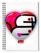 Red Love Heart Spiral Notebook