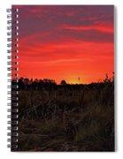 Red Marsh Sunrise Spiral Notebook