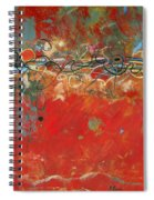 Red Meander Spiral Notebook