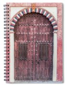 Red Medieval Wood Door Spiral Notebook