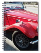 Red Mg Antique Car Spiral Notebook