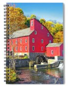 Red Mill Nj Fall Landscape Spiral Notebook
