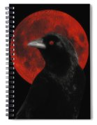 Red Moon Black Crow Spiral Notebook