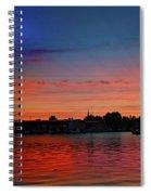 Red Morning Sun  Spiral Notebook