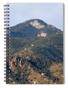 Red Mountain In The Foothills Of Pikes Peak Colorado Spiral Notebook