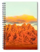 Red Mountain Sunset Organs Spiral Notebook