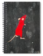 Red Mouse Spiral Notebook