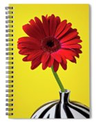 Red Mum Against Yellow Background Spiral Notebook