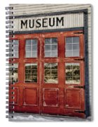 Red Museum Door Spiral Notebook