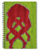 Nude Yoga Girl Red Spiral Notebook