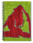 Red Nude Yoga Girl Spiral Notebook