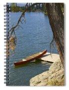 Red On Blue Spiral Notebook