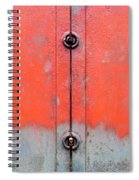 Red Over Grey Spiral Notebook