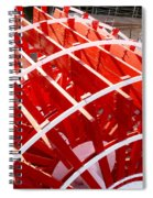 Red Paddle Wheel Spiral Notebook