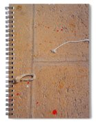 Red Paint Splash Spiral Notebook