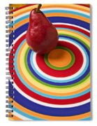 Red Pear On Circle Plate Spiral Notebook