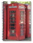 Red Phone Boxes. Spiral Notebook