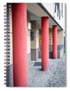 Red Pillars Spiral Notebook