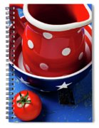 Red Pitcher And Tomato Spiral Notebook