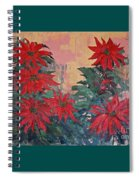 Red Poinsettias By George Wood Spiral Notebook