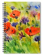 Red Poppies And Cornflowers Spiral Notebook