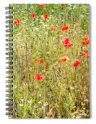 Red Poppies And Wild Flowers Spiral Notebook