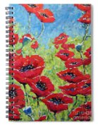 Red Poppies By Prankearts Spiral Notebook