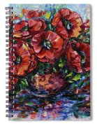 Red Poppies In A Vase Spiral Notebook