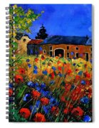 Red Poppies In Houroy Spiral Notebook