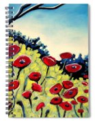 Red Poppies Under A Blue Sky Spiral Notebook